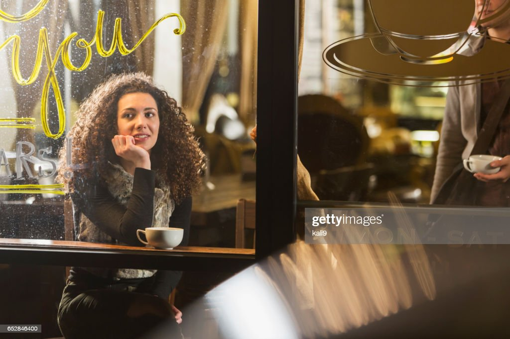 People hanging out in coffee shop : Stock Photo