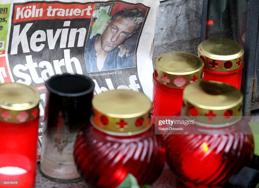 People have placed candles to mourn the death of the young resident Kevin who died due to the collapse of the Historical Archive on March 11, 2009 in Cologne, Germany. Cologne's six-story city archive building collapsed on Tuesday, March 3.The archive building dragged down parts of two adjacent buildings that contained apartments and an amusement arcade. Cologne holds archive material going back over centuries, including manuscripts by communist pioneers Karl Marx and Friedrich Engels and documents related to German writer Heinrich Boell.