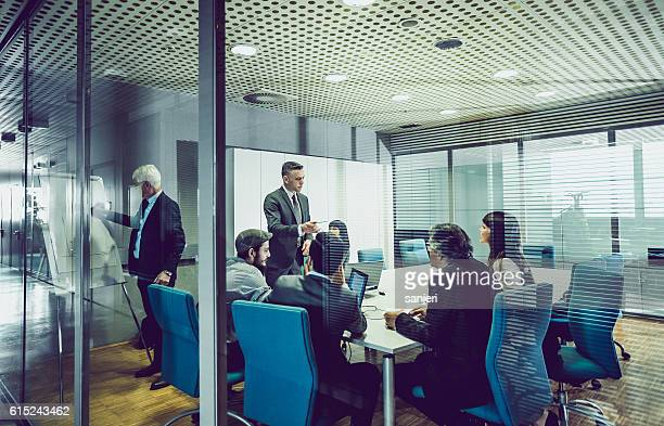 People Having a Business Meeting