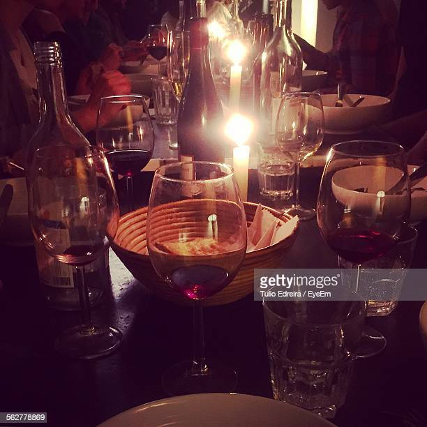 People Having Candlelight Dinner