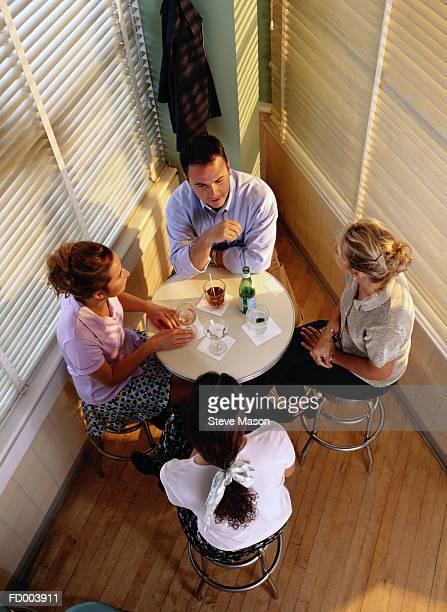 People Having Cocktails Together