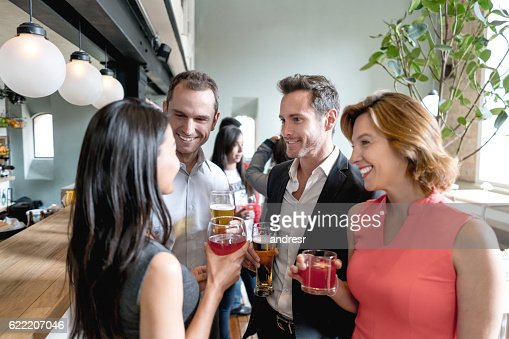 People having drinks at a restaurant