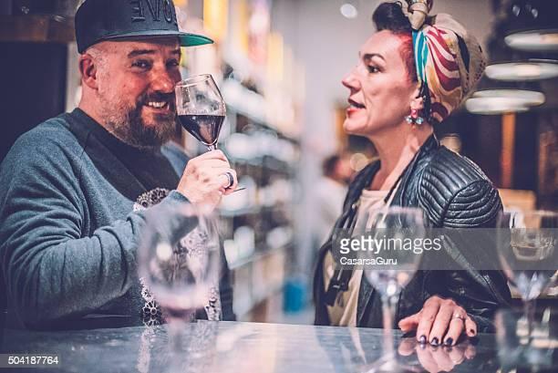 People Having Fun in a Wine Bar