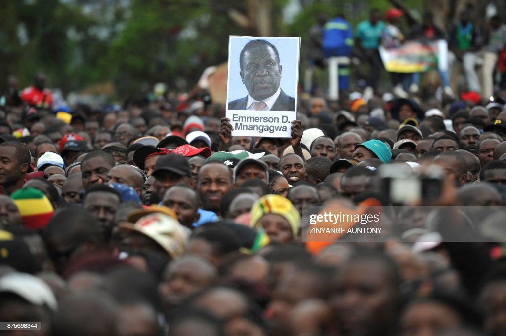 Demonstration demanding the resignation of Zimbabwe's president Mugabe