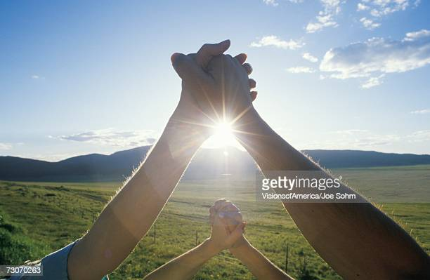 'People Holding Hands, Hands Across America, New Mexico'