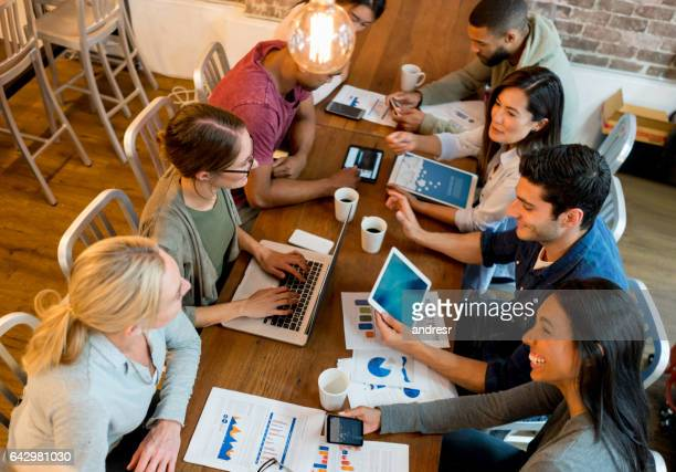 People in a business meeting at the office