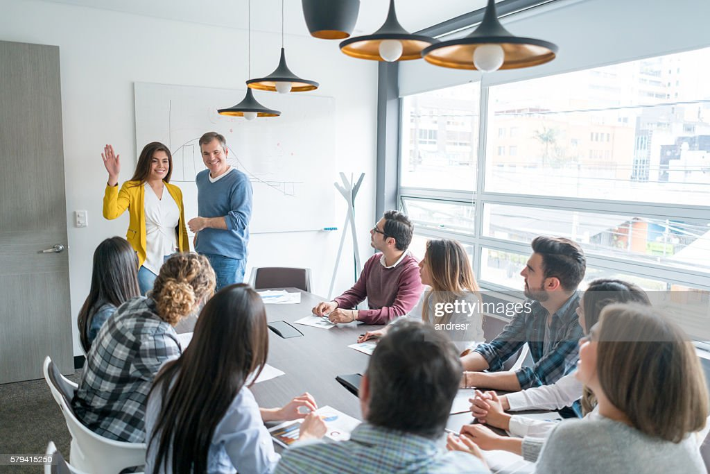 People in a business meeting : Stock Photo