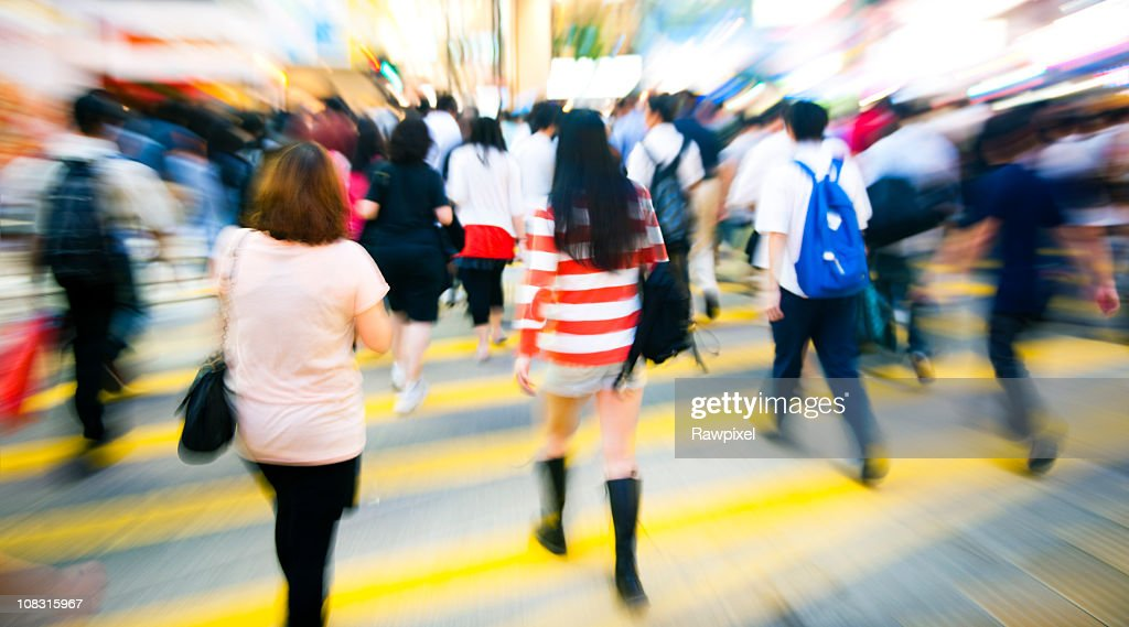 People in a Crowd. : Stock Photo