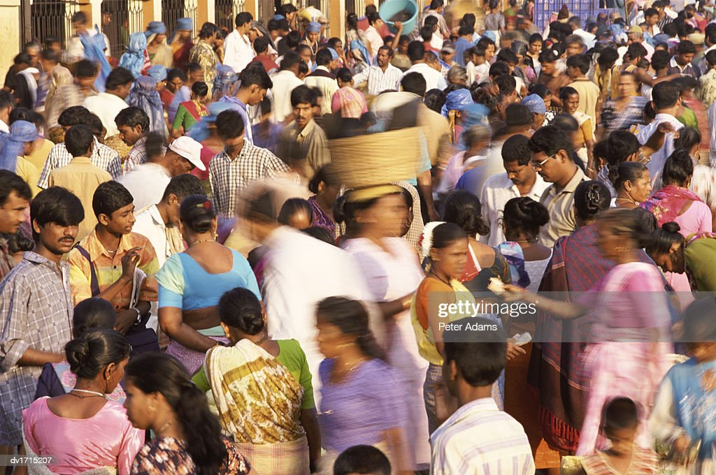 People in a Market, India : Stock Photo