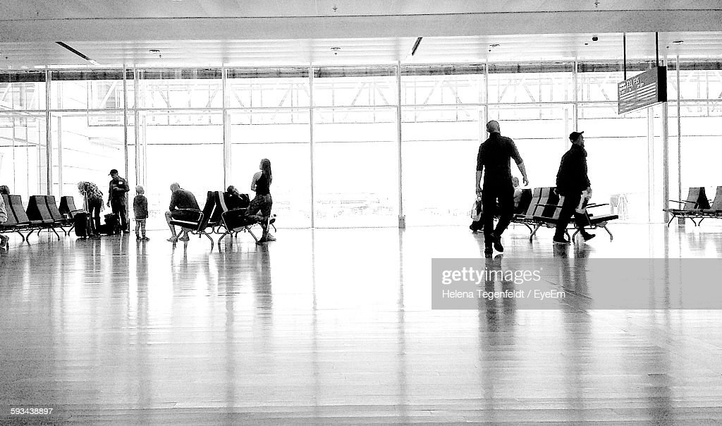 People In Airport Terminal : Stock Photo