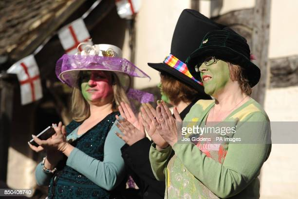 People in Bretforton celebrate the launch of British asparagus season A host of asparagus fans gather today St Georges Day to eccentrically celebrate...