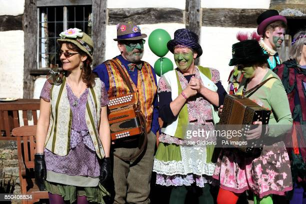 People in Bretforton celebrate the launch of British asparagus season A host of asparagus fans gather today St George's Day to eccentrically...