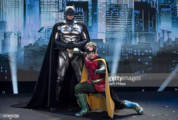 People In Costume As The Characters Batman And Robin Who Will Feature In The Batman Live Worldwide Arena Tour As They Attend A Photocall At The Royal...