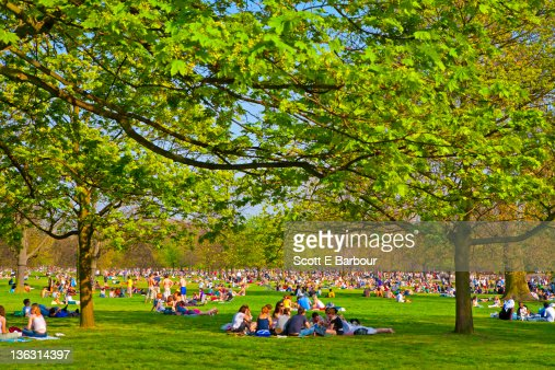 People in Hyde Park. Summer