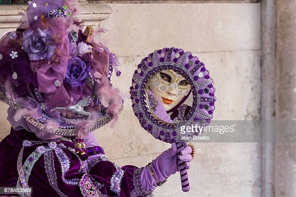 People in masks and costumes, Carnival, Venice, Veneto, Italy, Europe