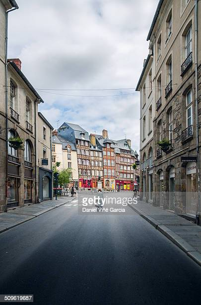 People in Rennes, Brittany, France