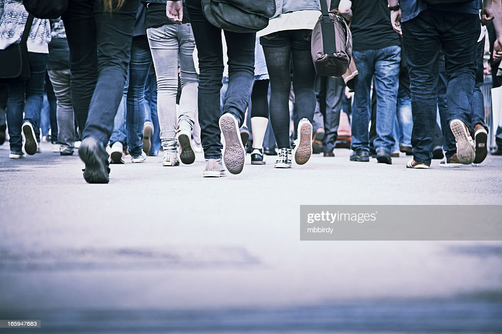 People in rush hour : Stock Photo
