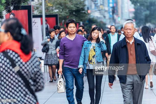 People in Shanghai, China