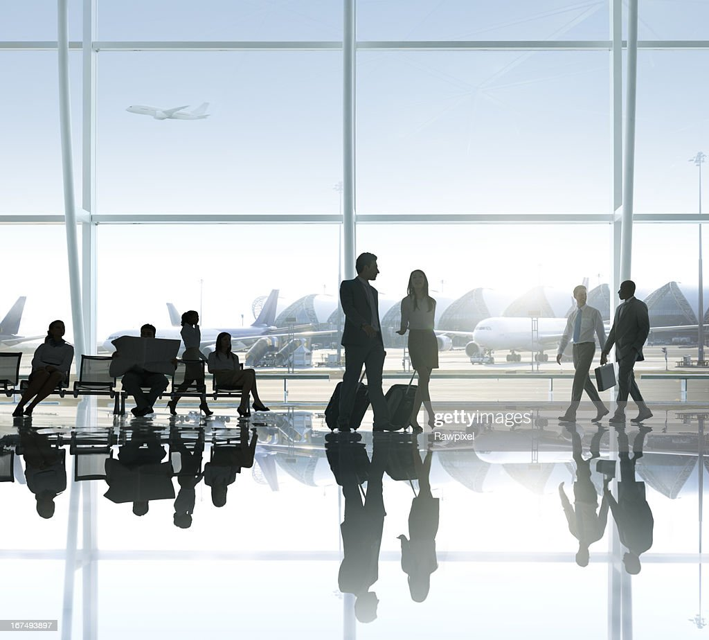 People in the airport : Stock Photo