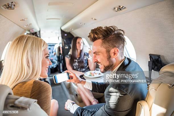 Menschen im jet-Flugzeug