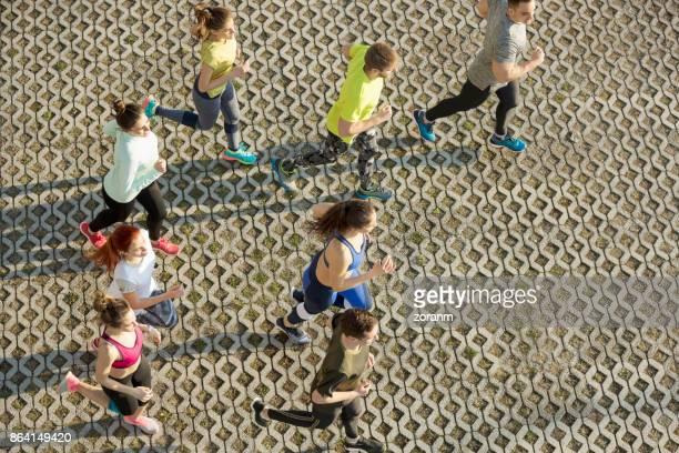 People jogging