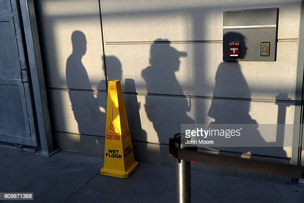 People line up to cross into the United States from Mexico on September 23 2016 in San Ysidro California Daily more than 10000 people legally cross...