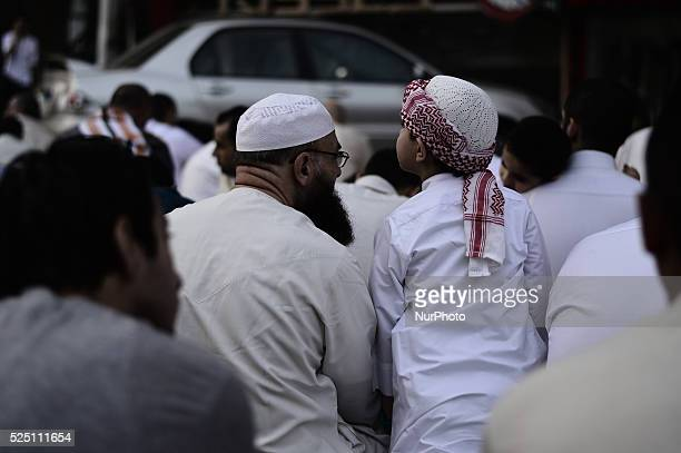 people listen to takbeers before alFitr prayer Muslims celebrate Eid alFitr after they fast the holy month Ramadan people wakeup early to pray Eid...