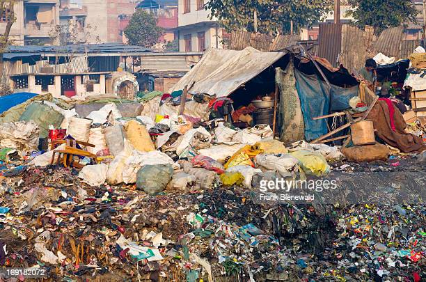 People live in shacks on the garbage dump at Bhagmati River in the middle of the city The garbage collected off the streets of the capital city is...
