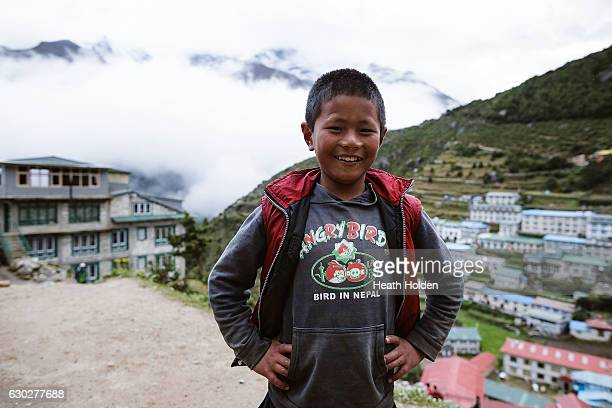 People living in the mountains live a hard life but are always smiling September 21 2016 in Namche Bazar Nepal The trails in the SoluKhumbu region of...