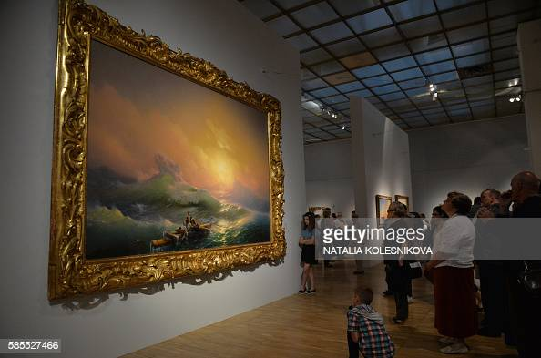 named 'The Ninth Wave' by late Russian painter Ivan Aivazovsky ...