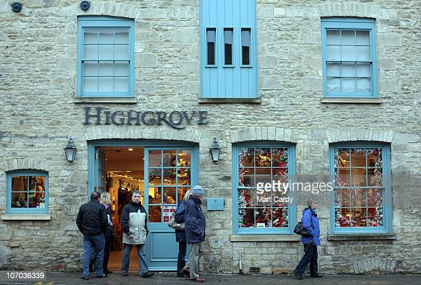 People look in the Highgrove shop on November 20 2010 in Tetbury England The Gloucestershire town is close to Highgrove The Prince of Wales and The...