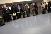 People looking for employment attend an AARP job fair with an emphasis on individuals 50 years old and over on April 12 2010 in New York City The job...