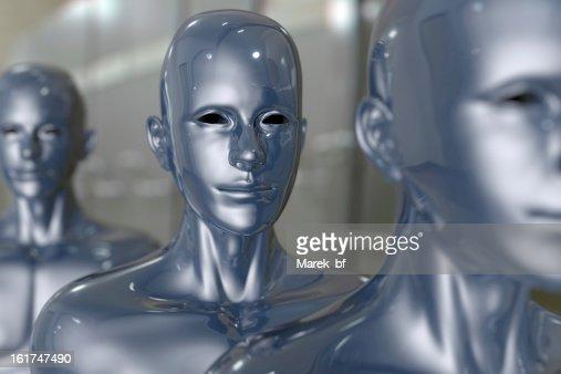 People machine - artificial intelligence. : Stock Photo