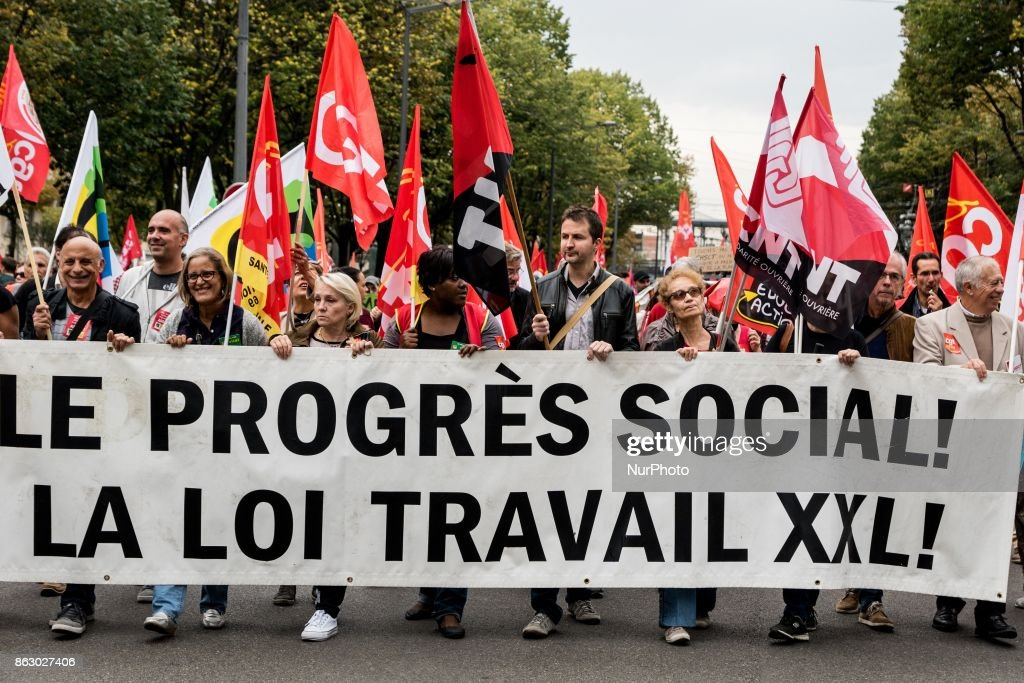 Demonstration against labour reform  in France