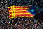 People march during a Catalan ProIndependence demonstration celebrating the Catalan National Day on September 11 2015 in Barcelona Spain The Spanish...