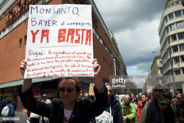 People march in Toulouse for the International March against Monsanto as elsewhere in Europe or in North America They don't want genetically modified...