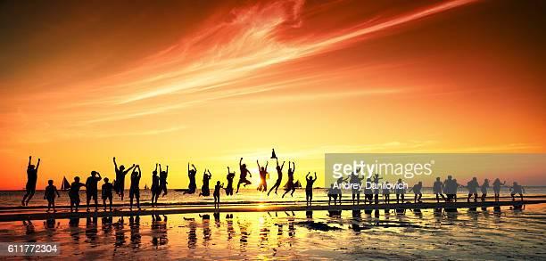 People meeting sunset. Sunset over Sibuyan sea