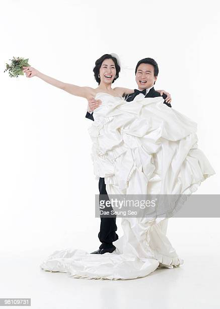 People, newly married couple, wedding
