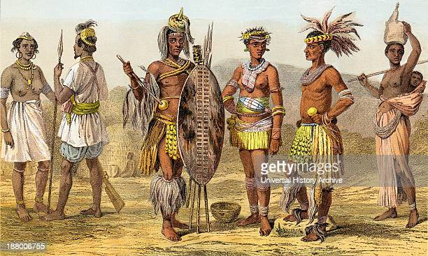 People Of Ethiopian Race In The Late 19Th Century From Left To Right Natives Of Senegambia Peui Woman From The Village Of Kouar Peui Man In War...