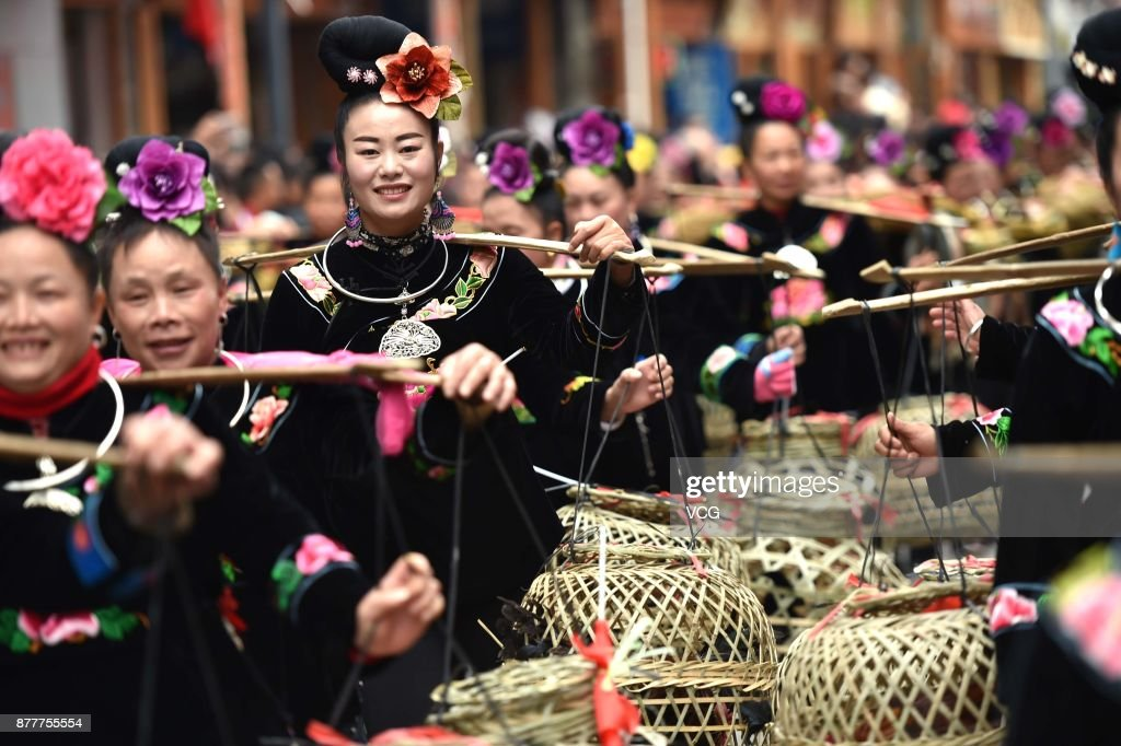 Miao Ethnic Group Celebrates Miao's New Year's Day In Guizhou
