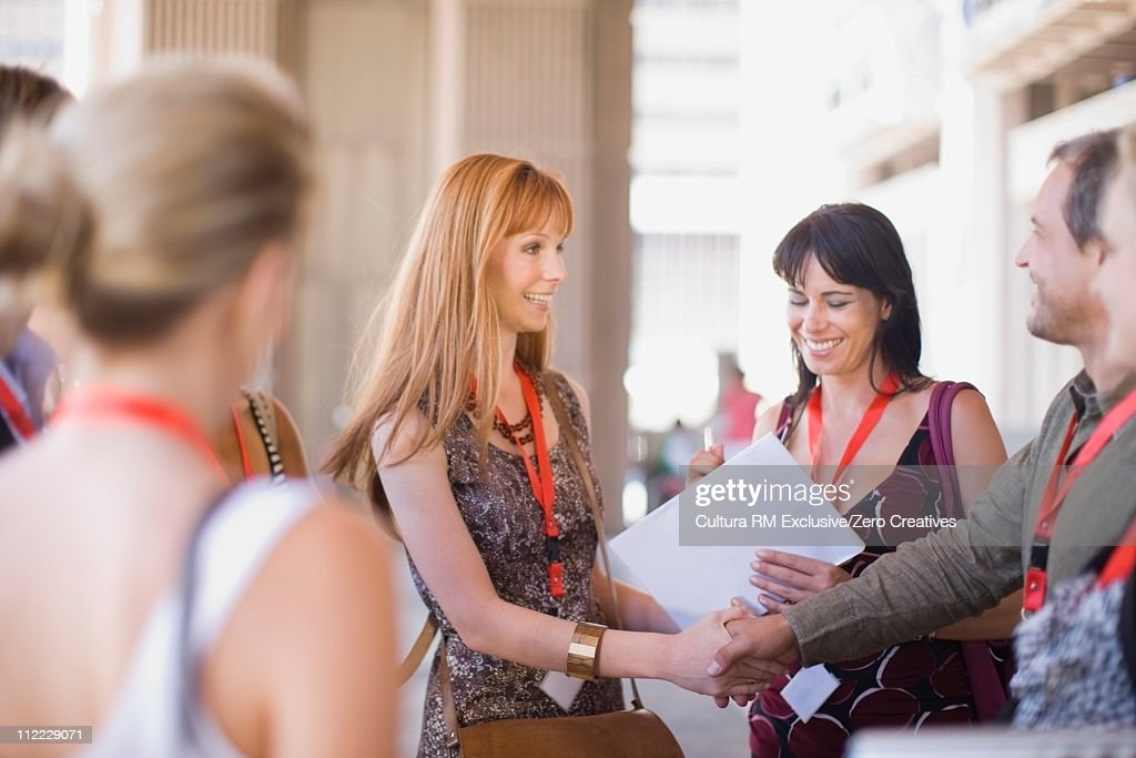People on a social media conference : Stock Photo