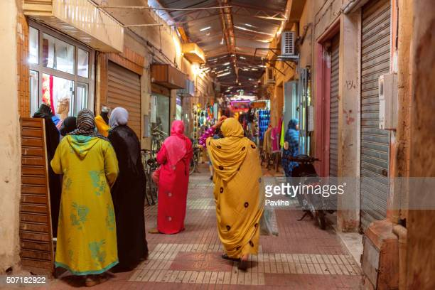 People on a street market Marrakech Morocco North Africa