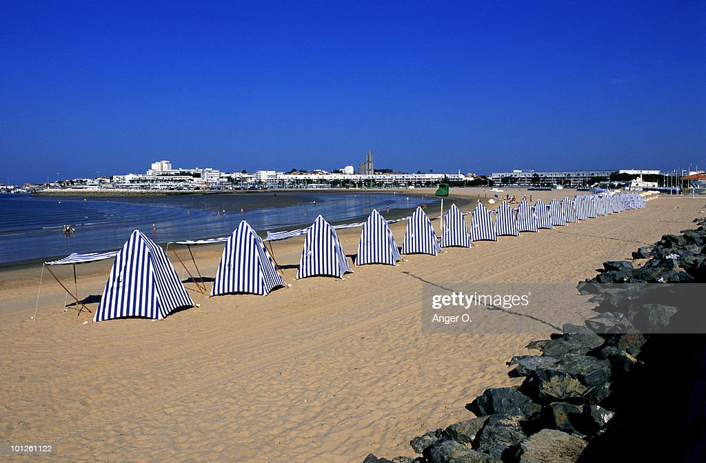 People on beach in Charente Maritime, France