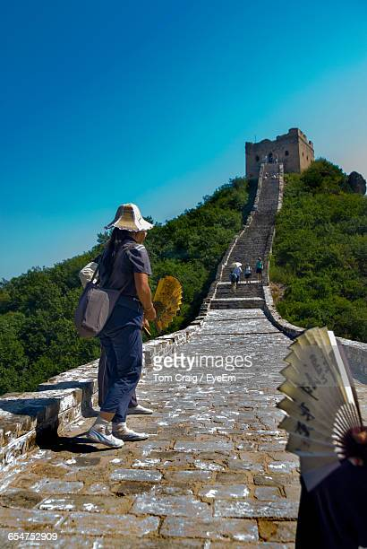People On Great Wall Of China