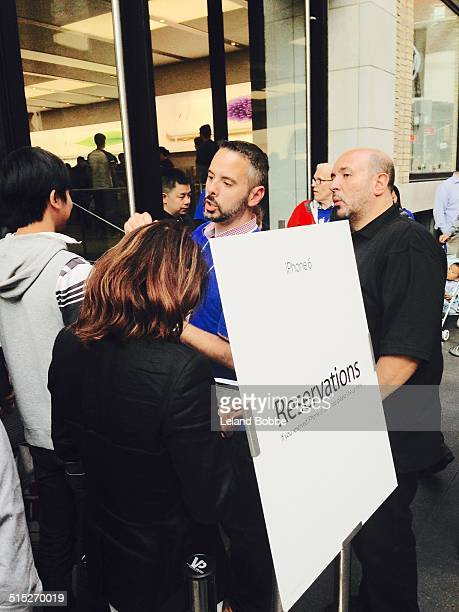 People on Line at the Apple Store in Soho NYC to buy iPhone 6