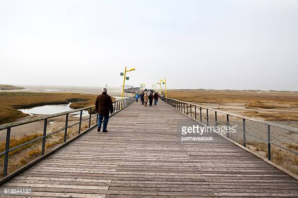 People on pier of St. Peter-Ording
