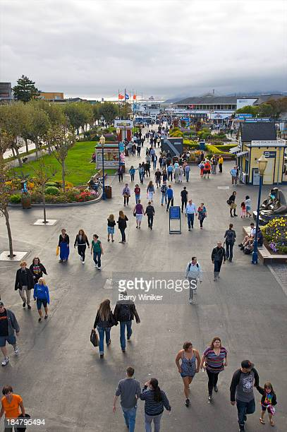 People on popular Embarcadero walkway