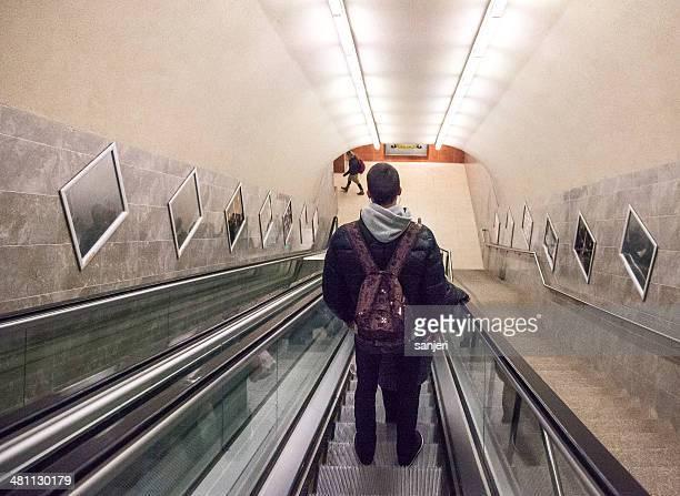 Menschen in der U-Bahn-station in Sofia, Bulgarien