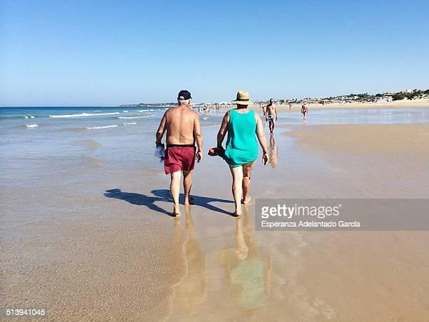 People on the beach in Cadiz Spain August 25 2014