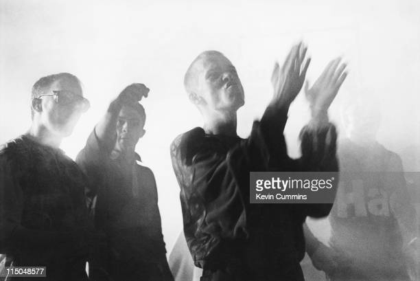 People on the dancefloor at The Hacienda night club on the night of its 8th birthday party Manchester 21st May 1990